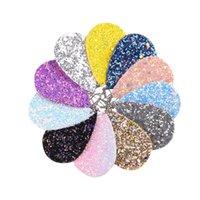 Кожа PU Блеск серьги Мода Sparkly пришивания мотаться серьги Teardrop кулон серьги для женщин подарки на день рождения 24 Цвет YFA2602