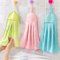 Cocina de la limpieza de trajes Herramientas Hangable 3 colores suaves conveniente toalla de mano fuerte desgaste duradero resistente absorbente limpio de trapo RRA3500