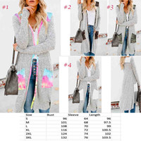 Women tie dye long Cardigan long sleeve stripe print camo st...