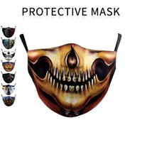 face masks 3D mouth Halloween sports outdoor riding mask Was...