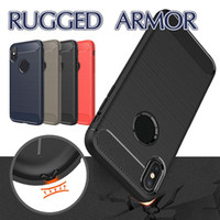 Carbon Fiber Case For iPhone 12 Pro Max 11 XS max 8 Plus For Samsung S21 A32 S30 A71 Brushed Texture Cellphone TPU Cases with OPP Bag