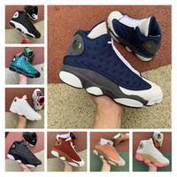 Новые 13 Остров Зеленый Мужские ботинки баскетбола Кремни Разводят Фантомные Чикаго Кроссовки Jumpman 13s площадка Retroes Hyper Royal Playoffs Мужчины обувь