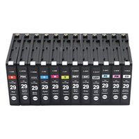 Cartucce d'inchiostro Colorink 12pack PGI29 Cartuccia PGI-29 Set intero per Canon PIXMA PRO-1 Pigmento stampante pieno con chip