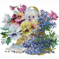 Werbe-Blumenmuster Kreuzstich gezählt Stickerei Stoff nähen Bastelset Handwerk handgemachte Wandkunstausgangsdekoration Nadel Malerei