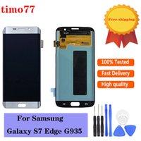 Paneles táctiles de teléfono celular originales para Samsung Galaxy S7 Edge G935 G935F G935A G935FD G935P Digitalizador LCD Digitalizador de pantalla disgustible Examen estrictamente con 2 años de garantía