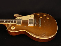 quality electric guitar custom Aged Relic gold top guitars