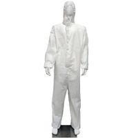 Stokta Yeni All-Beyaz Yetişkin Koruyucu Giysi Kapşonlu Cap Yüksek Antibakteriyel Yüksek Kaliteli Anti-statik Karşıtı Kirlilik İzolasyon Elbise Takım Elbise