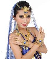 Stage Wear Feecolor Set van 7 stks Dans Sieraden Accessoires Buik Kostuum Accessoire Hijab Hoofdtooi Oorbel Armband Ketting