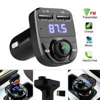 X8 FM 송신기 AUX 모듈레이터 블루투스 핸즈프리 자동차 키트 자동차 오디오 MP3 플레이어 3.1A 빠른 충전 듀얼 USB 자동차 충전기 MQ100