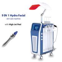 9 in 1 Hydra Yüz Mikrodermabrazyon Makinesi Saf Oksijen Jet Peel Cilt Gençleştirme Makineleri Mikro Dermabrazyon Ekipmanları
