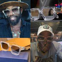 2020-Millionärs-Sonnenbrille quadratischen Rahmen 1165W transparent Gold dekorative Gläser Tempel kein C Brief mit Kasten-Sonnenbrille Farbrahmen