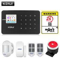 أنظمة الإنذار KERUI G18 GSM للمنازل أنظمة الأمن APP ضد السرقة لاسلكي إنذار الحريق حماية الحركة الاستشعار الأمن