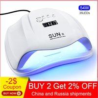 Jewheiteny Sunx 54W УФ-лампы LED лампы ногтей для ногтей для всех гелей Польский с инфракрасным ощущением 30/60/90S Таймер Smart сенсорная кнопка 200924