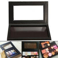 Negro portátil de gran tamaño Vacío imán gama de colores cosmética DIY de sombra de ojos Corrector Blush Paletas de belleza multifunción caja de maquillaje
