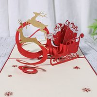Fast Shipping! Kinds Of Christmas 3D Cards Christmas Tree Ha...