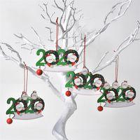 Nueva máscara de Navidad colgante de muñeco de nieve árbol de Navidad superviviente de Navidad colgante de madera en 4 estilos T3I51166