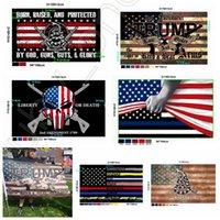 Yeni Stiller Trump Bayrağı 90 * 150cm ABD Polis 2 Değişiklik Amerika Bayrağı Gadsden Banner ABD Başkanlık Seçim Bayrakları DHL Kargo RRA3634