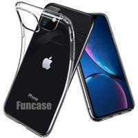 Ультратонкий тонкий мягкий гель TPU прозрачный прозрачный кристалл резиновый силиконовый чехол для iPhone 12 Mini 11 Pro Max XS XR X 8 7 6 6s Plus SE