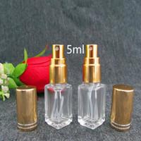 5ml clair Atomiseur gradient personnalisé bouteille cosmétique parfum en verre carré petit vaporisateur Bouteille de parfum expédition rapide