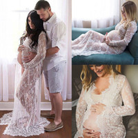 Maternity Dress Photography Long Maxi Pregnancy Clothes Lace...