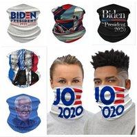 Biden Montar la bufanda de cuello 14 Estilos Biden 2020 Banderas de seda del hielo bicicleta de la bici de la bufanda mágica diadema Pañuelos la mascarilla del DDA404