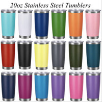 18styles 20oz Stainless Steel Tumblers with Lid and Straw Eg...
