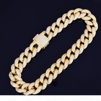 Men 23mm Heavy Miami Cuban Link Chain Necklace Choker Iced O...