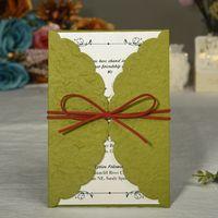 2021 فريد جوفاء النقش دعوات الزفاف الإبداعية العرائس الأزواج بطاقات غطاء احباط ختم خمر دعوة الزفاف