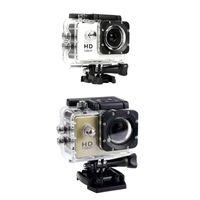 스포츠 액션 비디오 카메라 2Set 480P 오토바이 대시 카메라 DVR 풀 HD 30m 방수, 금 화이트