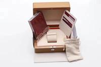 الأصلي مطابقة الأوراق الأمن بطاقة هدية حقيبة أعلى الخشب ووتش مربع ل عوادس OMGA كتيبات الساعات الحرة طباعة بطاقة مخصصة ووتش حالة