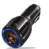 QC3.0 Charge rapide 3.0 Chargeur voiture double port USB 3.1 Chargeur rapide pour Xiaomi iphone 7 8 x Samsung s9 s10 Huawei intelligent rapide Hub Chargeur
