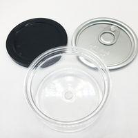 Pet Köpek Gıda Depolama Plastik Kavanoz 3.5 Gram Kolay Çekme Yüzük Makinesi Mühür Kutular Özel Etiketler Hava Sıkı Gıda Sınıfı Plastik Kutular