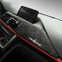 BMW F30 F31 F32 F34 F36 3GT 3 4 Seri Aksesuar Alcantara Wrap Araba Dashboard Paneli ABS Kapak Trim Araba İç Dekorasyon