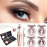 2020 New Hot Magnetic Upgrade Model Blue High-end Gift Box Eyeliner Set Magnetic Eyeliner Set False Eyelashes
