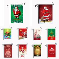 Weihnachtsgarten Flaggen 30 * 45 cm Outdoor Hanging Garten Banner Frohes Neues Jahr Weihnachten Banner Home Party Dekorationen Da918