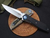ZT tolérance zéro ZT0372 9Cr18MoV balle palier de broche de poignée G10 Couteau de poche pliant pliage noël cadeau couteaux a2896