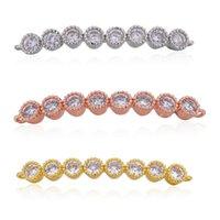 Rosa Oro Argento 3 colori di rame Micro zircone rettangolare braccialetto accessori connettore per la personalità fai da te i risultati dei monili del braccialetto