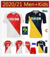 الرجال الاطفال 2020 مجموعات 2021 AS موناكو SOCCER الفانيلة 20 21 كيتا بالدي بن يدر جيلسون FOOTBALL SHIRT FABREAGS جولوفان maillots دي القدم