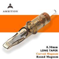 Амбиции татуировки картридж Иглы # 10 0.30mm bugpin Изогнутые Magnum Magnum Круглый Одноразовые иглы татуировки 1011rm 1013rm 1015rm CX200808