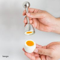 Oeufs Topper Cutter Shell Ouvre Shell Egg en acier inoxydable Ouvre Outils en métal Boiled Raw Egg Outils ouverts Creative Cuisine Egg TQQ BH2326