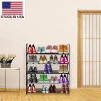 Corridor Door Shoe Storage Rack 5 Tiers Shoe Rack Shoe Tower Shelf Storage Organizer For Bedroom Entryway Hallway and Closet Black Color