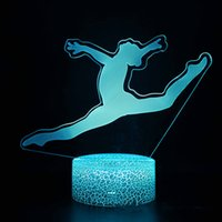سطح المكتب الإبداعي LED Touch التحكم عن بعد 3D مصباح ملون الإبداعية أضواء ليلة البصرية الجمباز 3D ستيريو الصمام الاضواء
