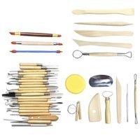 فنون الحرف كلاي النحت أدوات الفخار نحت مجموعة أداة الفخار الأمبير سيراميك مقبض خشبي أدوات النمذجة كلاي