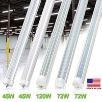 65W V образный T8 LED магазин Свет двойной стороне светодиодные трубки фары R17D Вращающийся 8ft 45W 65W LED Склад освещение