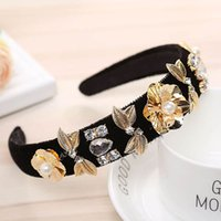 Diamond girls hair sticks Vintage pearl kids headband flower...