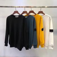 2020 sudaderas Europa para los hombres retro de la marca suéter cómodo transpirable diseño del bordado del brazo carta insignia tamaño asiático superior de cuello redondo