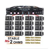 SINBOSEN 4 канал 4670W 2 Ом стабильный 1U усилитель мощности D4-2000 Professional Audio Power Цифровой усилитель