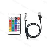 RGB Kontrolörleri 24 Ants USB 1 M Tel 30 W 6A DC5V Kızılötesi Alma Sensörü ile 5050 Şerit Modülleri Duvar Yıkama Lambası DHL