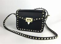 Giorno Borse 2018 nuovo sacchetto della donna di lusso del progettista di marca borsa Shoulderbag Bag Lady d'oro rivetto Incontri Data nero Valentine piccola borsa