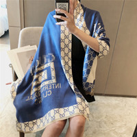 Big Classic Letter Scarves Pink Black Scarf Shawls Women Fas...